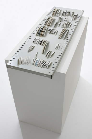 hoyde_1600_portrait of the anonumous. porcelain, metal, wood. 42x94x82 cm. 2010.photo Øystein Klakegg