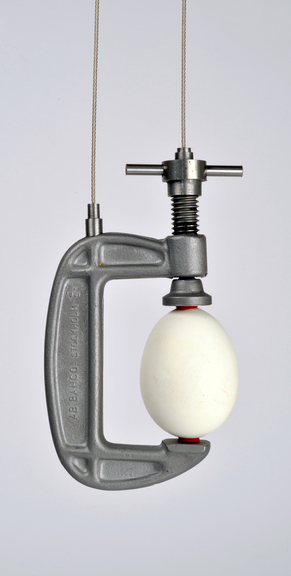 Carrying device for an egg, hanger, pendant, egg, steel, 2014